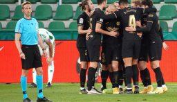 برشلونة يواصل انتصاراته في الدوري الإسباني بغياب نجمه ميسي