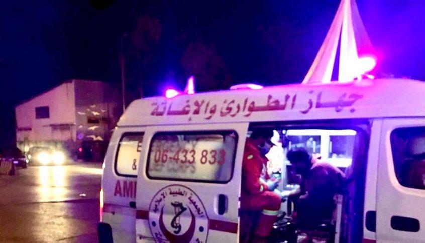 جهاز الطوارئ والإغاثة: 124 إصابة في اليوم الثالث من المواجهات في طرابلس