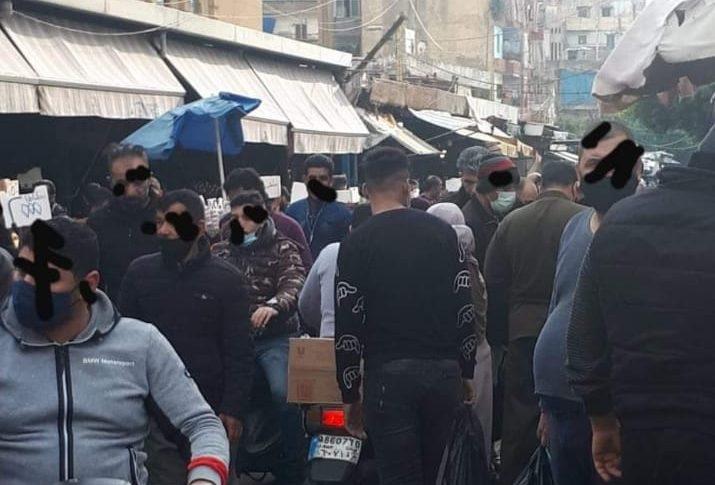 زحمة مواطنين في سوق صبرا رغم قرار الاقفال التام (بالصور)