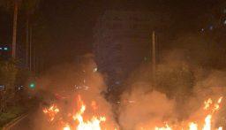 محتجون قطعوا اوتوستراد البداوي بالاتجاهين