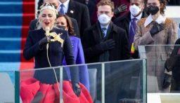 بالفيديو: ليدي غاغا تغني النشيد الوطني الأميركي خلال تنصيب بايدن