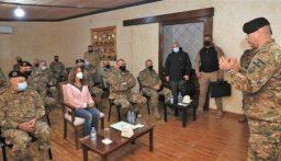 زيارة تفقدية لعكر إلى عدد من مراكز ألوية وأفواج الجيش في الشمال