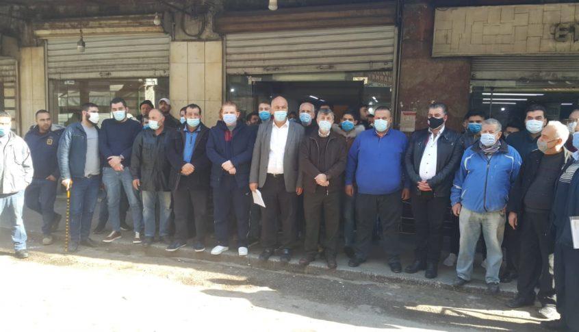 اعتصام لاصحاب الافران في طرابلس