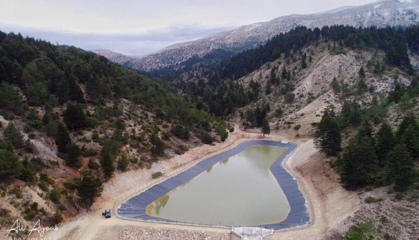 بحيرة اصطناعية لري الأراضي الزراعية في أعالي بلدة فنيدق