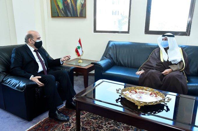 وهبه استقبل سفير الكويت واستعراض المواقف المشتركة التي تجمع البلدين