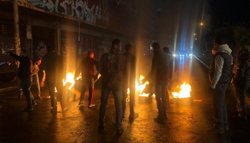 قطع الطريق في القبة وأمام سرايا طرابلس