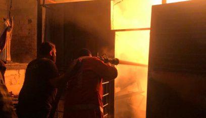 حريق مولدان للتغذية بالطاقة الكهربائية وخزانات مازوت في مستيتا