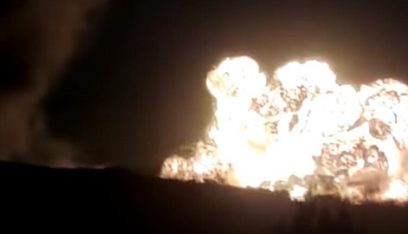 """انفجارات ناجمة عن استهداف """"حراقات النفط"""" في ريف حلب"""