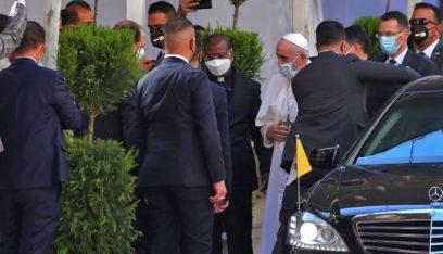 البابا فرنسيس التقى السيد السيستاني