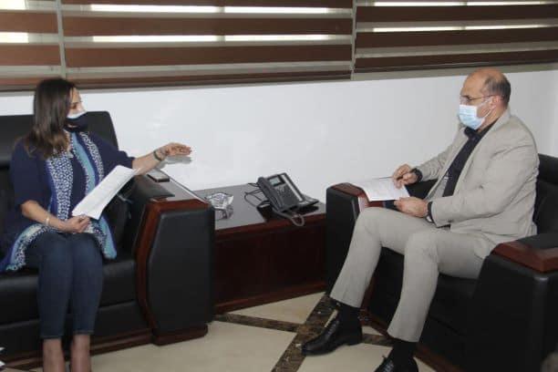 وزيرا الاعلام والصحة عرضا آلية تلقيح الاعلاميين ويعلنان الاثنين عن الموعد
