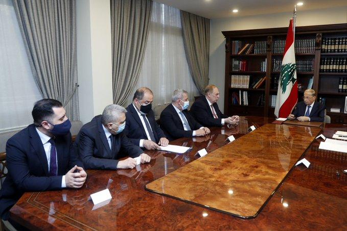 الرئيس عون استقبل وفداً مشتركاً من اللجنة النيابية للإقتصاد والتجارة والصناعة