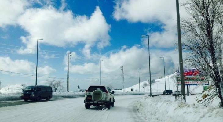 التحكم المروري: طريق ضهر البيدر سالكة أمام جميع المركبات باستثناء الشاحنات حاليا