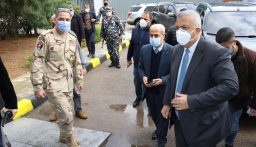 محافظ بيروت تفقد وخير المستشفى الميداني المصري وعقد اجتماعا يتعلق بترميم أبنية متضررة في مار مخايل وإزالة مادة ASBESTOS