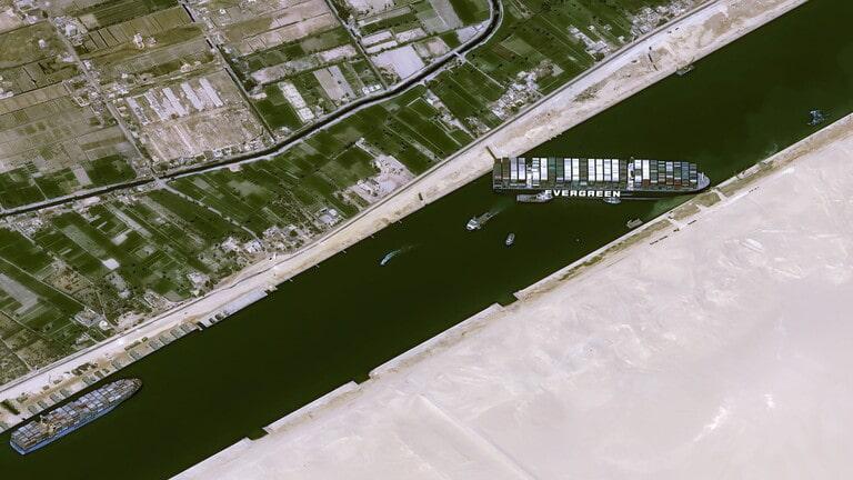 قناة السويس تصدر بياناً جديداً بشأن الاتفاق مع الشركة المالكة للسفينة الجانحة