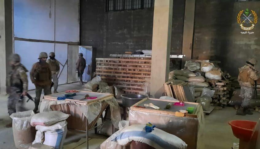 بالصور: الجيش يضبط مصنعاً لتصنيع المخدرات في بعلبك