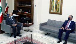 الرئيس عون عرض الاوضاع مع وديع الخازن