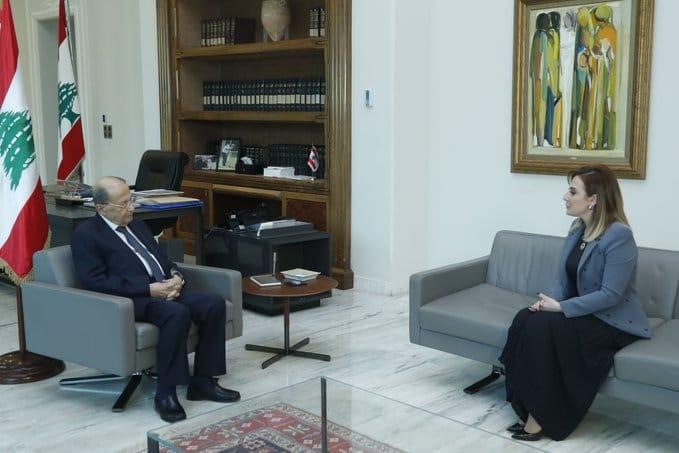 الرئيس عون استقبل وزيرة الشباب والرياضة فارتينيه اوهانيان