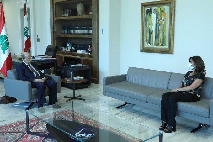 الرئيس عون عرض وعكر موضوع استئناف المفاوضات غير المباشرة لترسيم الحدود