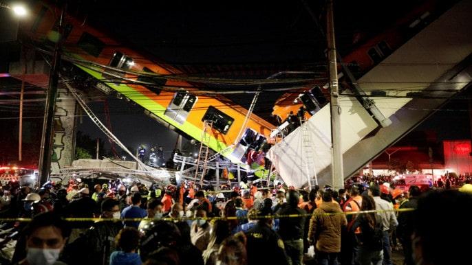 ارتفاع حصيلة حادث المترو في العاصمة المكسيكية إلى 23 قتيلاً