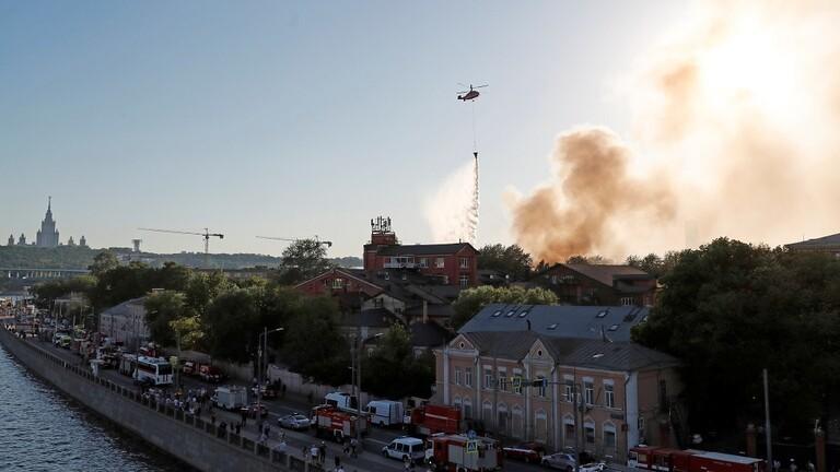 روسيا.. الكشف عن أسباب الحريق في مستودع المفرقعات
