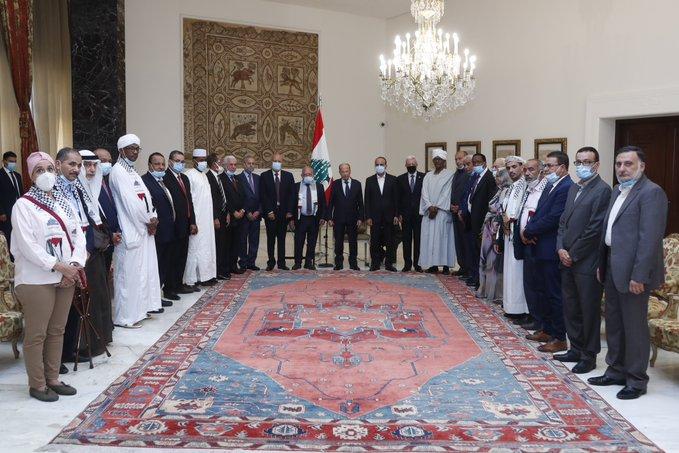 الرئيس عون التقى وفداً من المؤتمر القومي الاسلامي