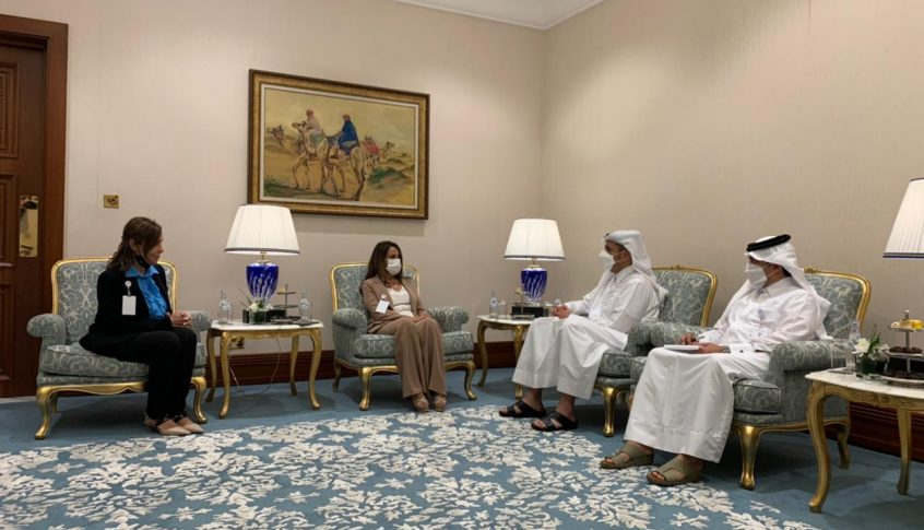 عكر شاركت في اجتماعات وزراء خارجية الدول العربية في قطر