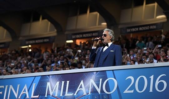 """افتتاح """"يورو 2020"""" على صوت أندريا بوتشيلي"""