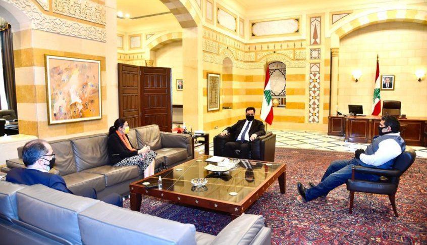 دياب استقبل السفير الإقليمي لبرنامج الأمم المتحدة