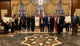 عكر استهلت زيارتها الى قطر بلقاء السفيرة اللبنانية