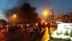 قطع السير عند ساحة عبد الحميد كرامي طرابلس