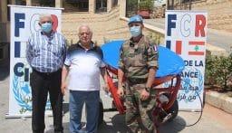 آلة لرش الملح هبة فرنسية لبلدية شبعا