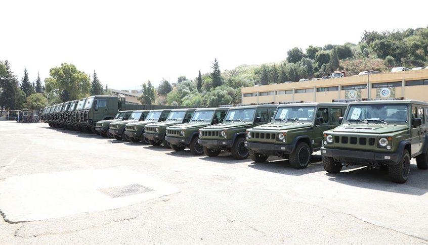 بالصور: الجيش اللبناني يتسلّم آليات عسكرية مقدمة من الصين