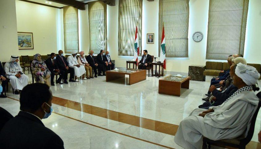 دياب استقبل وفدًا من الأحزاب العربية