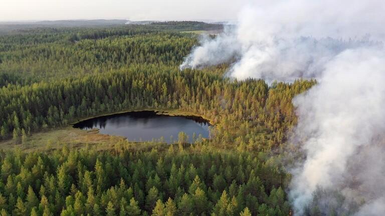 إعلان حالة الطوارئ في أقليم كاريليا الروسي بسبب حرائق الغابات