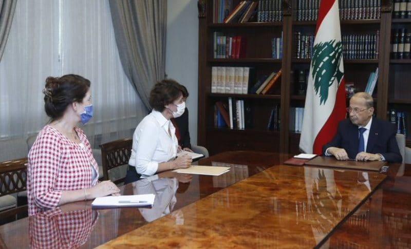 """الرئيس عون اطلع من """"غريو"""" و""""شيا"""" على نتائج لقاءاتهما في الرياض"""