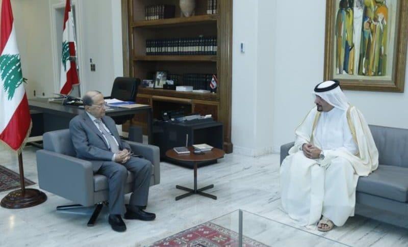 الرئيس عون منح الجابر وسام الأرز الوطني تقديرا لدوره في تعزيز العلاقات اللبنانية القطرية