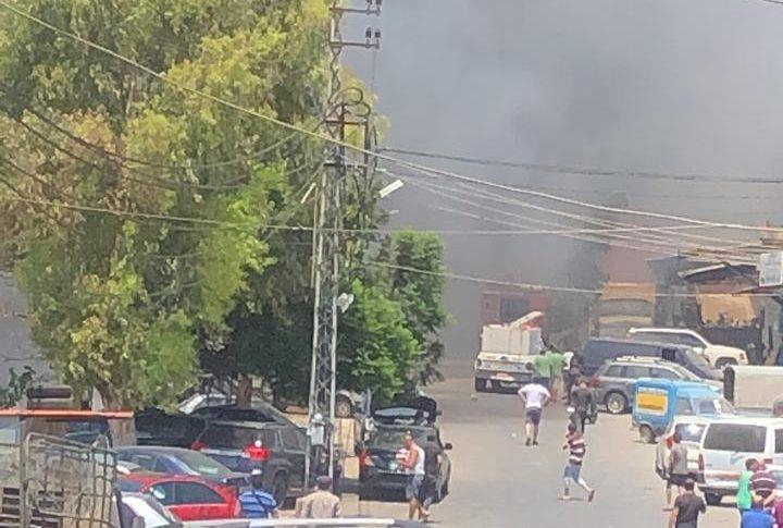 حريق كبير في المدينة الصناعية في النبطية!