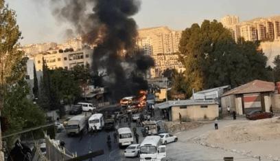 تفجير في حافلة عسكرية بدمشق ومعلومات عن وقوع إصابات