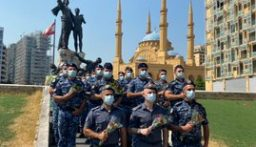 مسيرة راجلة لقوى الأمن الداخلي تكريماً لشهداء إنفجار مرفأ بيروت