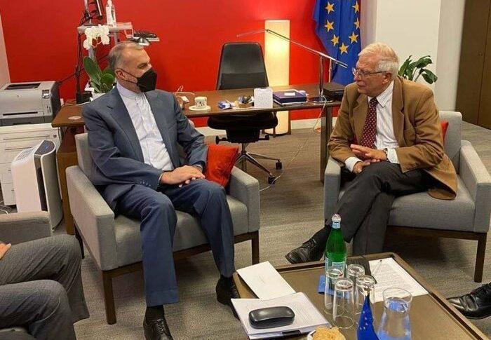 للمرة الاولى.. لقاء بين بوريل ووزير خارجية إيران