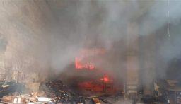 إطفاء بيروت: حريق في المصيطبة يعمل رجال الفوج على إهماده