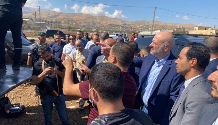 وزير الداخلية تفقد موقع ضبط ٢٠ طن من مادة نيترات الأمونيوم