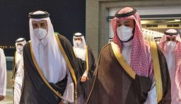 """بالصورة: لقاء استثنائي """"ودي"""" قطري – سعودي – اماراتي"""