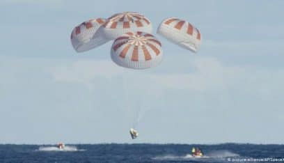 بالفيديو: أول رحلة سياحية الى الفضاء تصل الأرض بسلام