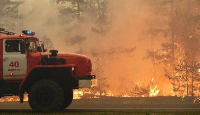 مساحات حرائق الغابات في روسيا تسجل رقماً قياسياً