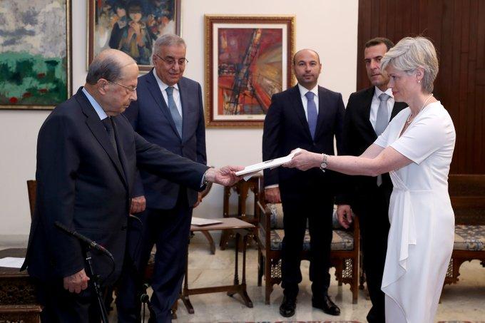 الرئيس عون تسلم اوراق اعتماد سفراء ماليزيا وسويسرا والعراق والدومينيكان وايسلندا ورواندا