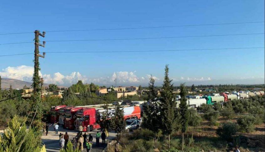 بالفيديو: قافلة صهاريج المازوت الايراني دخلت إلى الأراضي اللبنانية