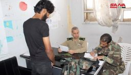 الجيش السوري يبدأ بتسوية أوضاع المسلحين في داعل