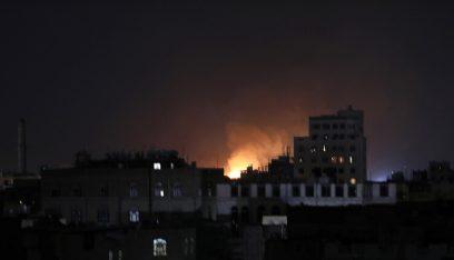 التحالف العربي نفذ غارات جوية على صنعاء