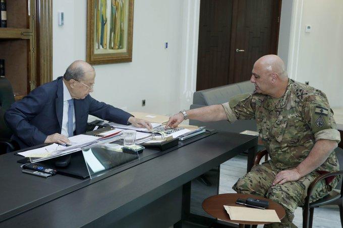 الرئيس عون اطلع من قائد الجيش على تفاصيل احداث الطيونة